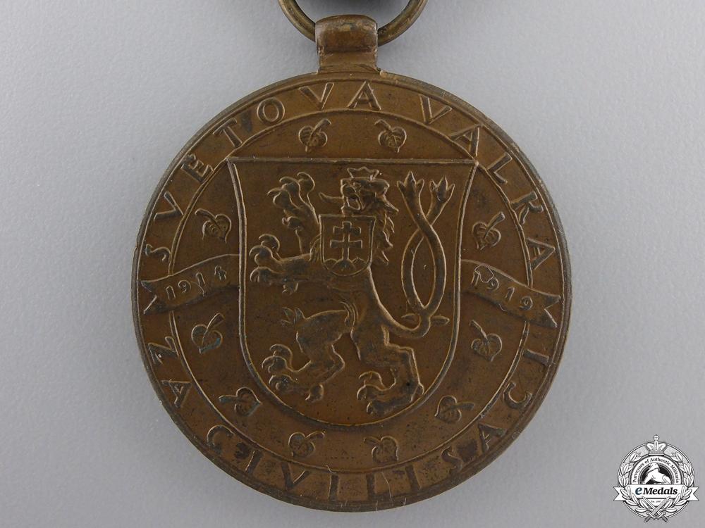 A First War Czechoslovakian Victory Medal