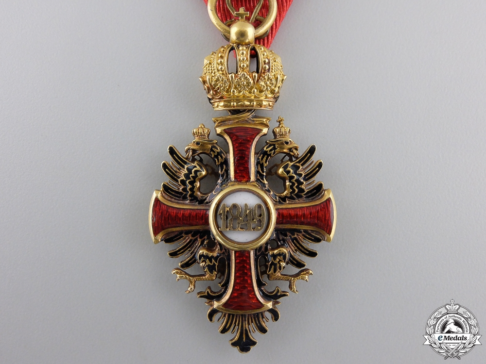 A First War Austrian Order of Franz Joseph in Gold by V.Mayer