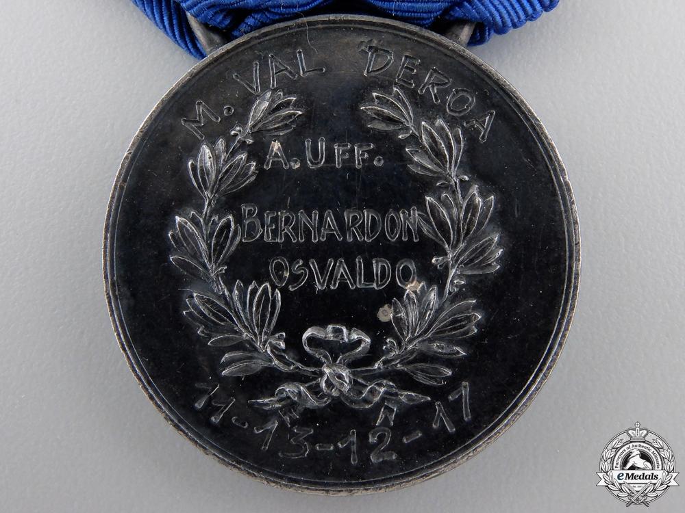 A 1917 Silver Al Valore Militare to Bernardon Osvaldo