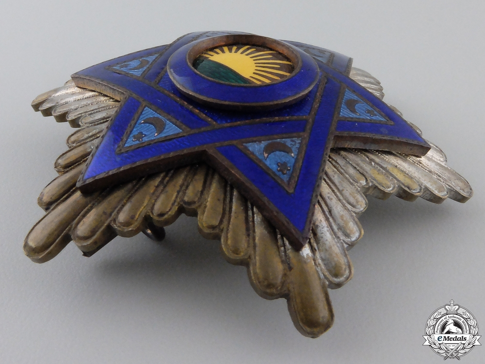 A Moroccan Order of Mehdauia; Breast Star
