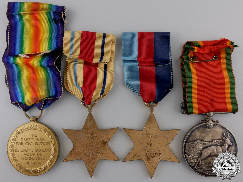 A First & Second War South African Medal Group