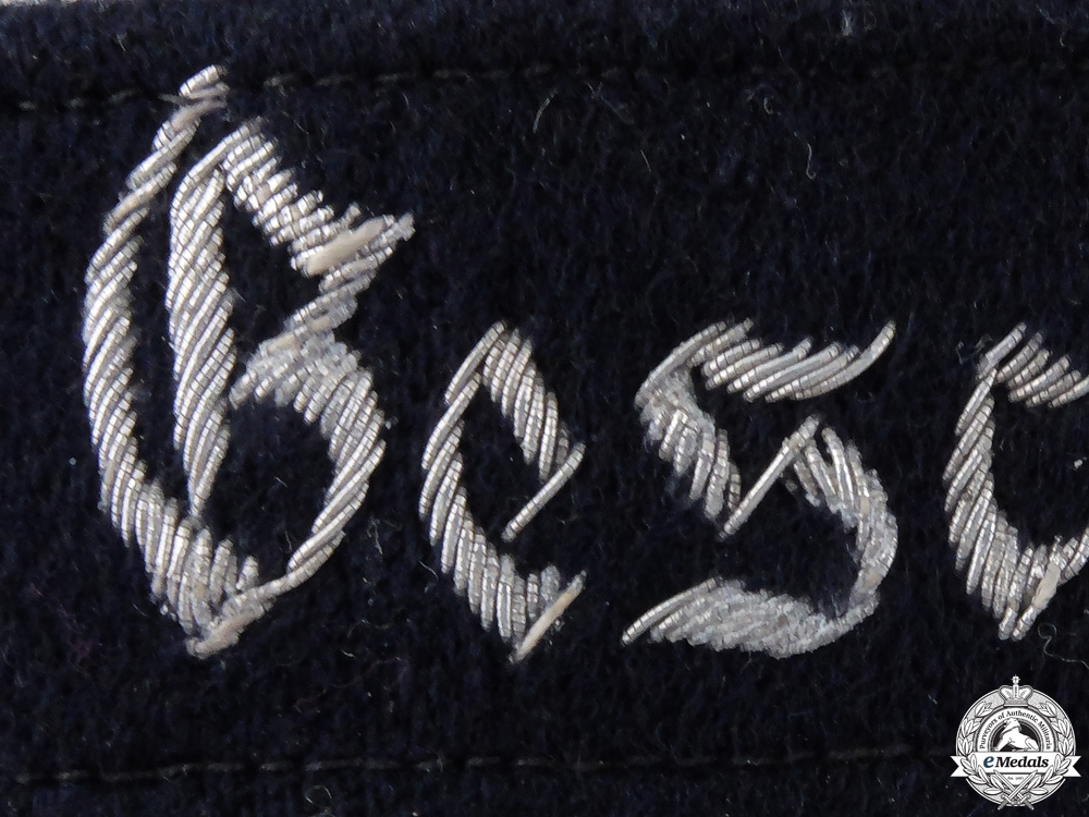 A Geschwader Horst Wessel Cufftitle; Officers Version