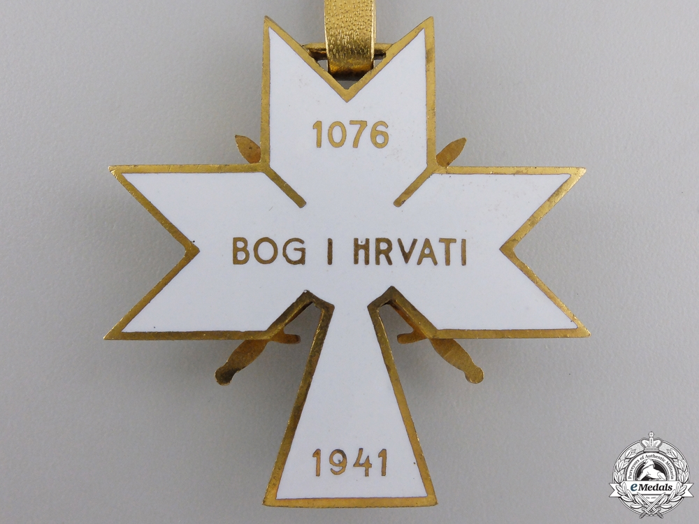 A Croatian Order of King Zvonimir 1941-45; 1st Class with Swords