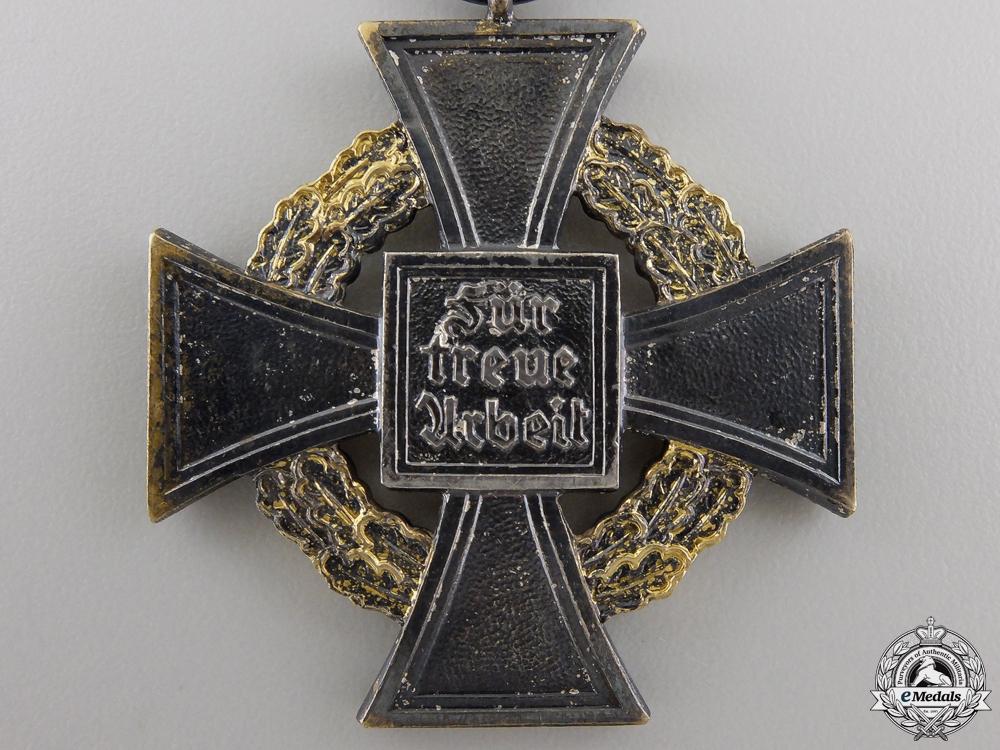 A German Faithful Service Cross; First Class