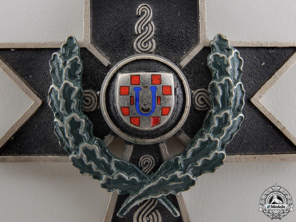 A Croatian Order of the Iron Trefoil; First Class Cross with Oakleaves
