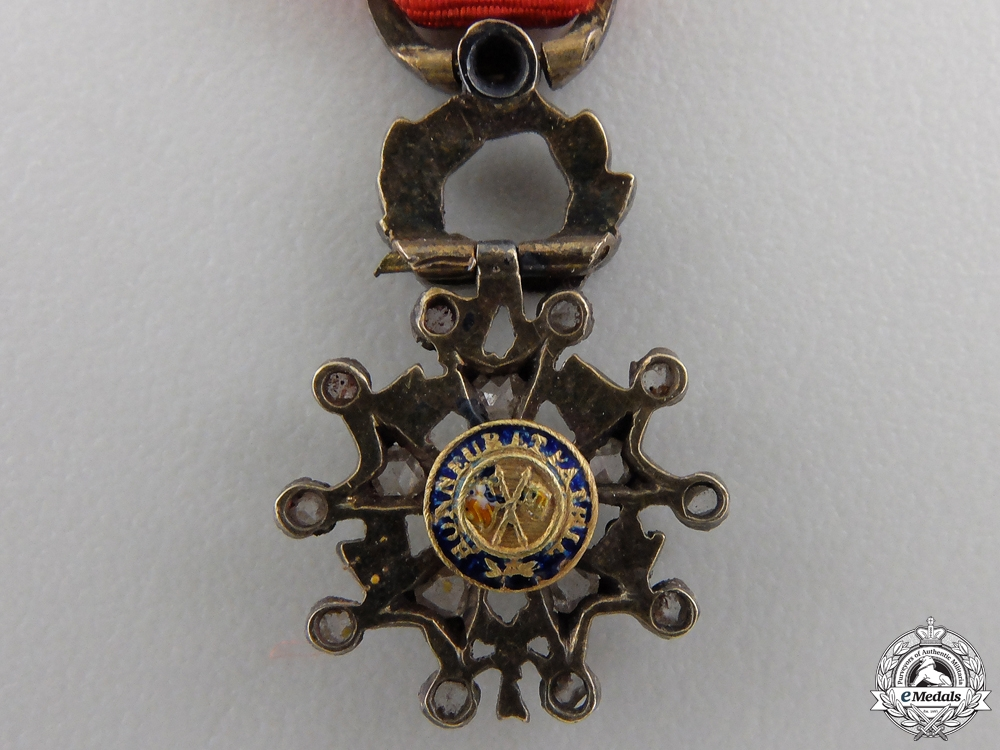 A Miniature French Legion D'Honneur in Diamonds