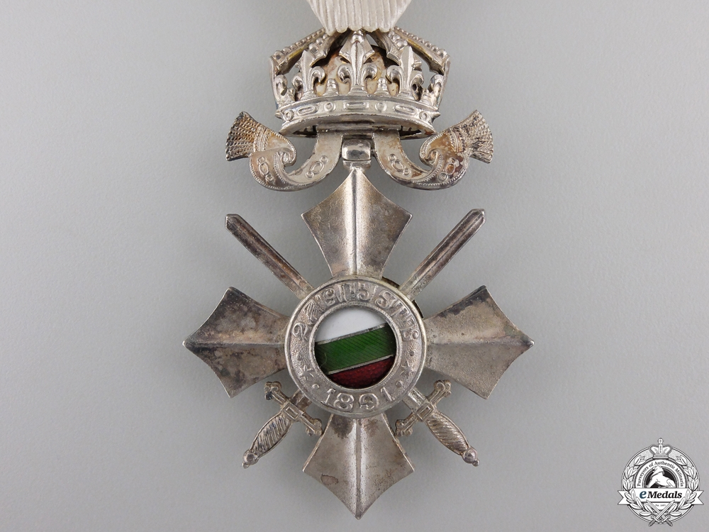 A Bulgarian Order of Civil Merit; Sixth Class with Crown 1944-46