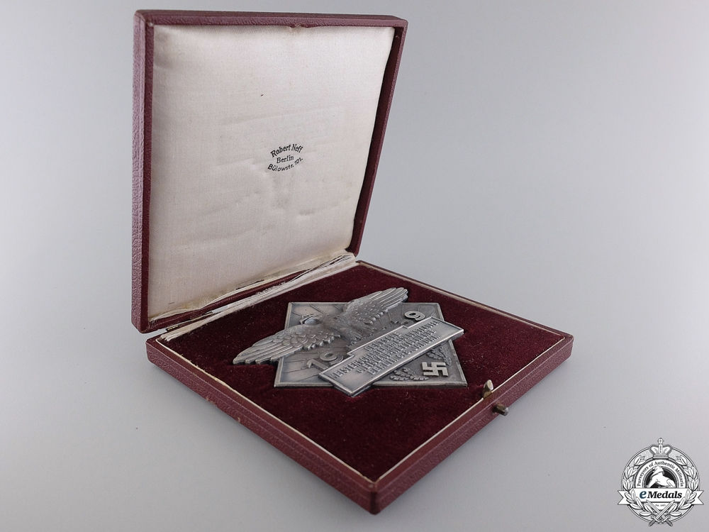 A 1939 German Figure Skating Championships Award with Case