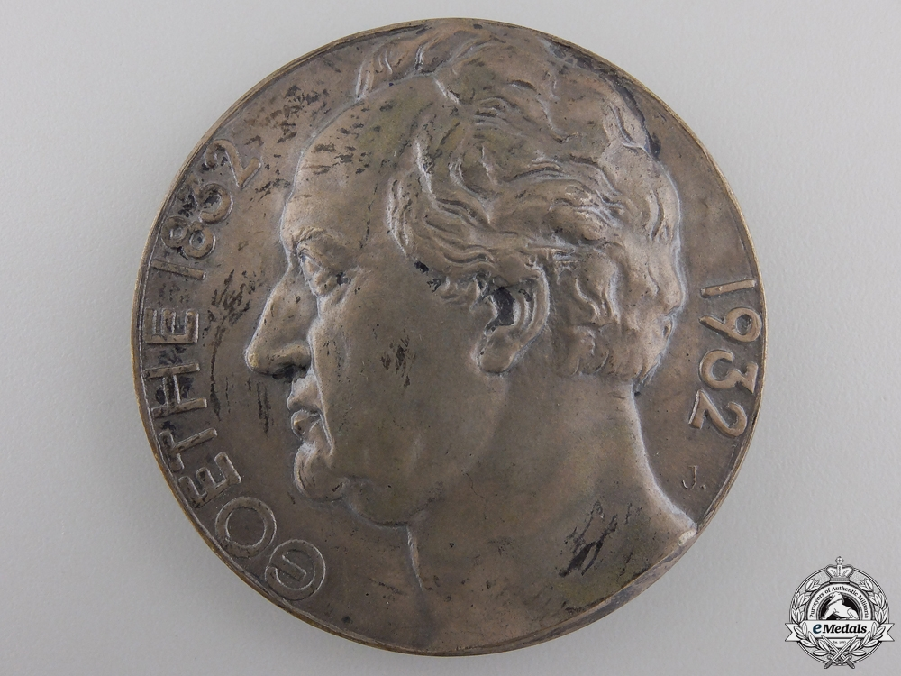 A 1832-1932 Goethe Centenary Medal with Case