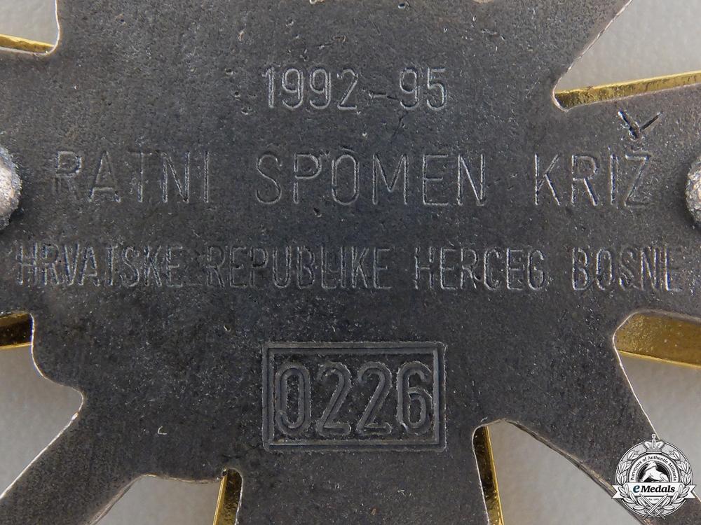 A Herceg-Bosna War Merit Cross 1992-95
