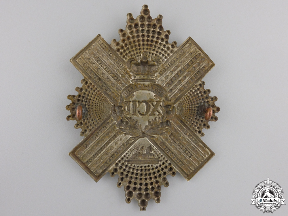 A Pre 1881 XCII 92nd Gordon Highlanders Uniform Cross Belt Badge Plate