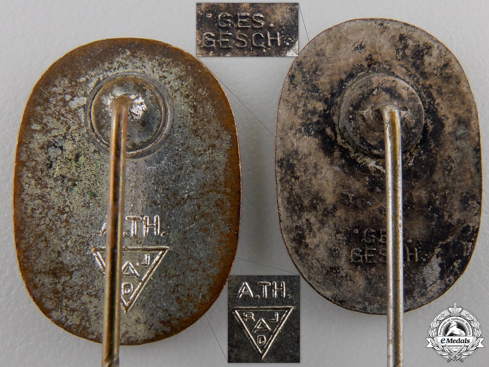 Three Third Reich Period Stickpins