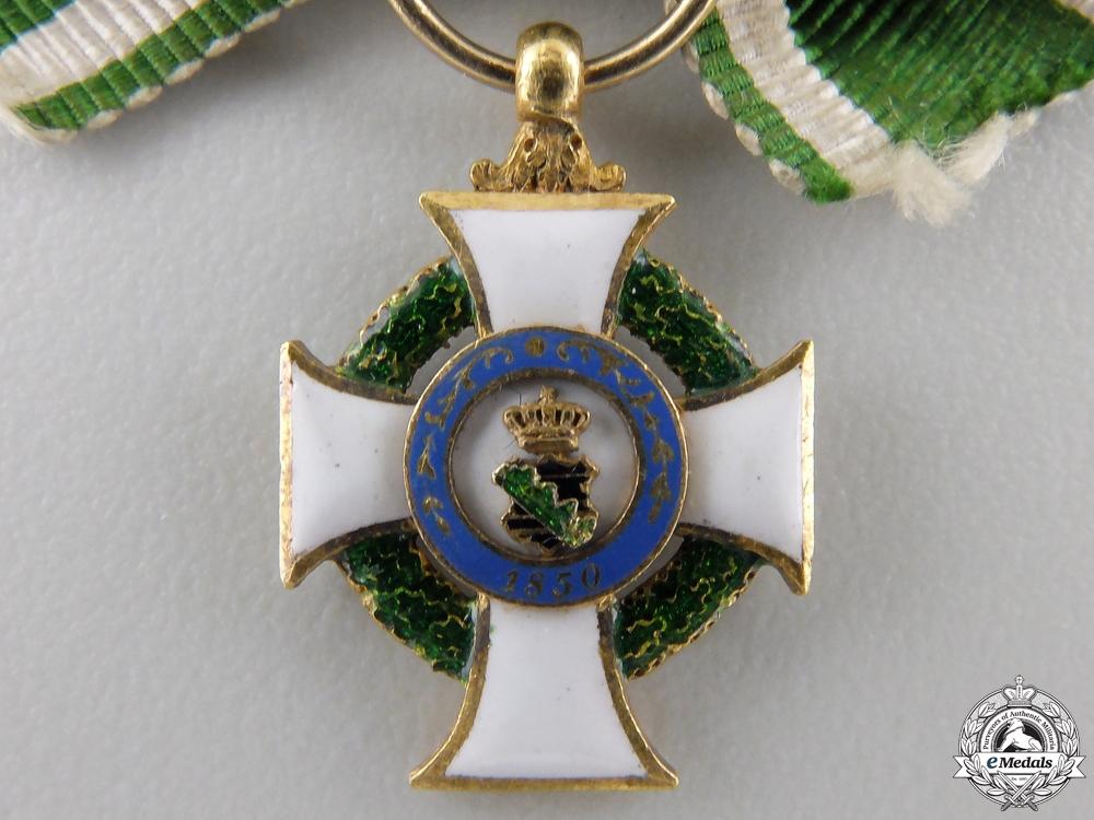 A Miniature Saxon Order of Albert in Gold