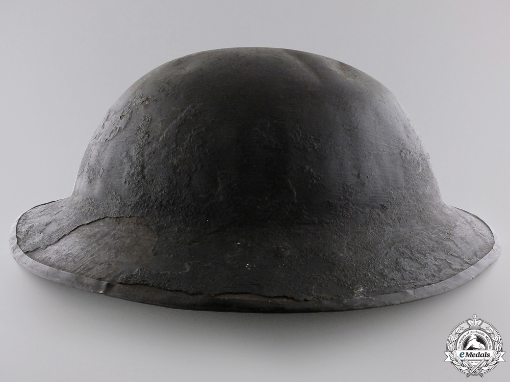 A First War Helmet of T.Parton; 15th Canadian Infantry Battalion