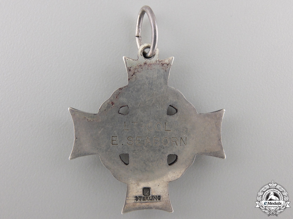 A Memorial Cross of Lieut. Colonel Seaborn; Author of The March of Medicine