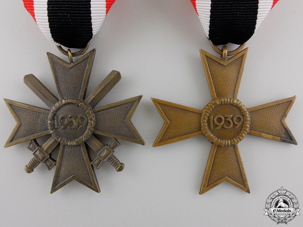 Two Second War German War Merit Awards