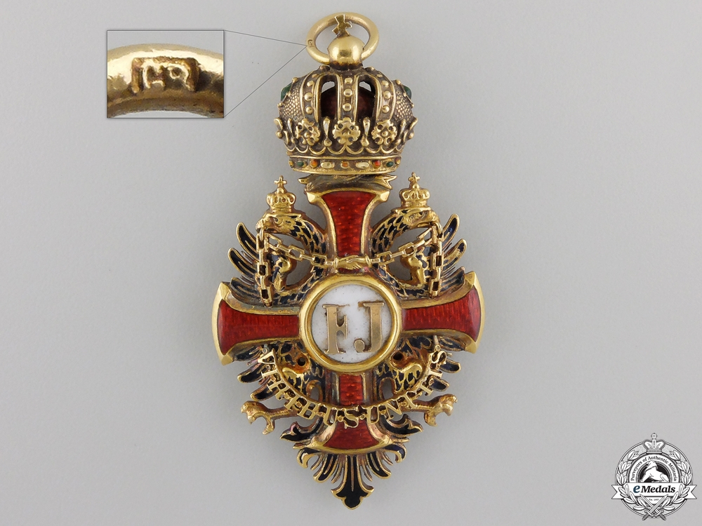 A 1860 Austrian Order of Franz Joseph in Gold; Grand Cross