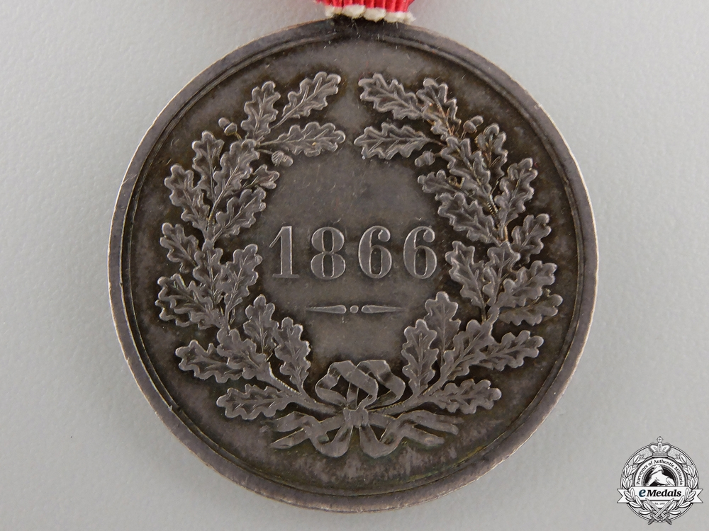 A Rare 1866 Austrian Prague Commemorative Medal