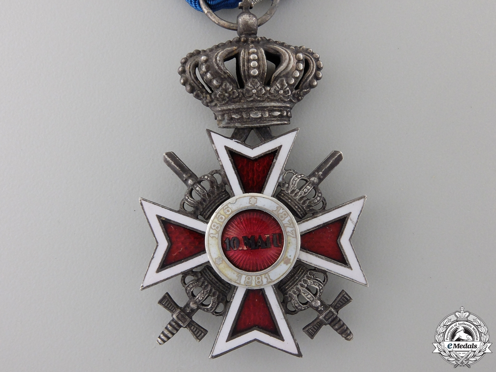A Romanian Order of the Crown with Swords; Type II