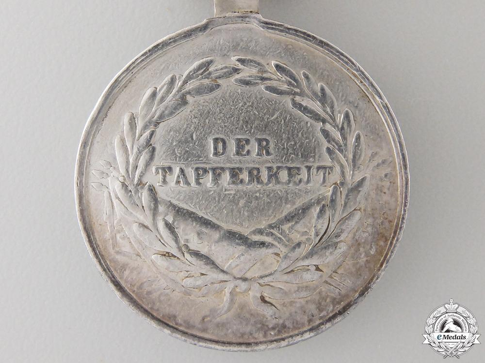 An Austrian Silver Bravery Medal; Second Class
