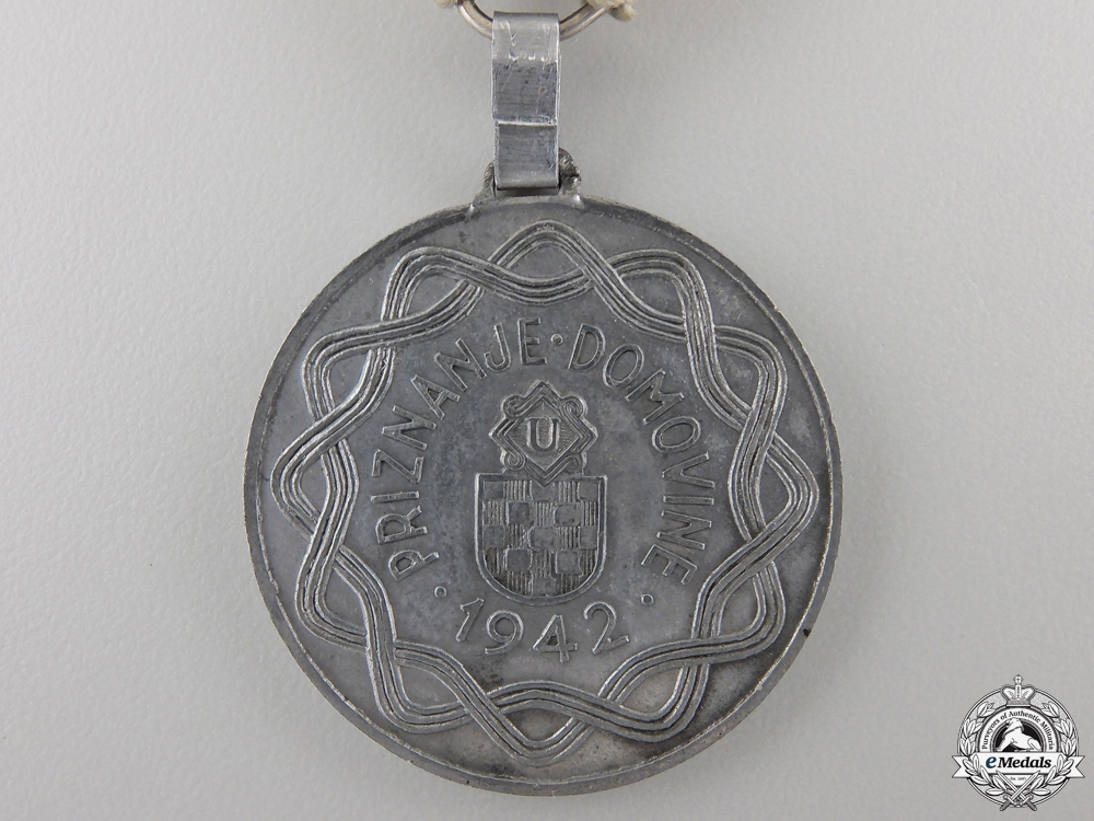 A Second War Croatian Wound Medal