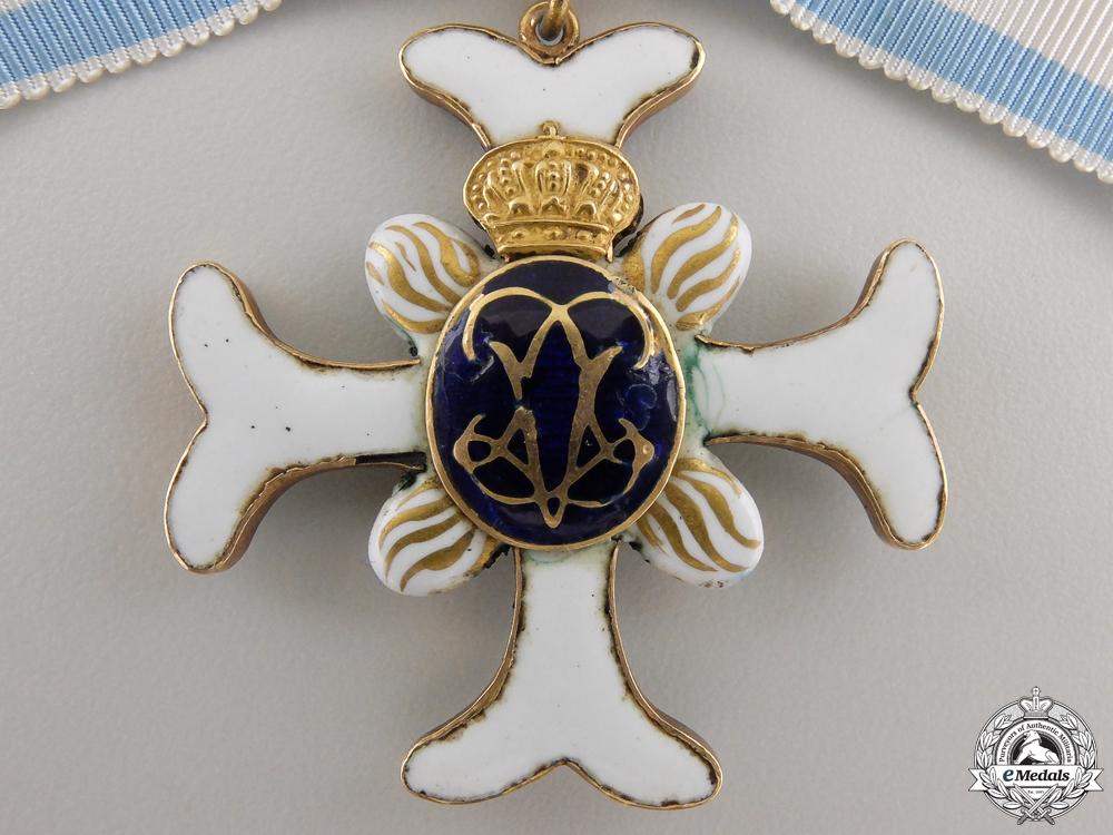 A Rare Swedish Order of Vadstena Adliga; Ladies Cross in Gold