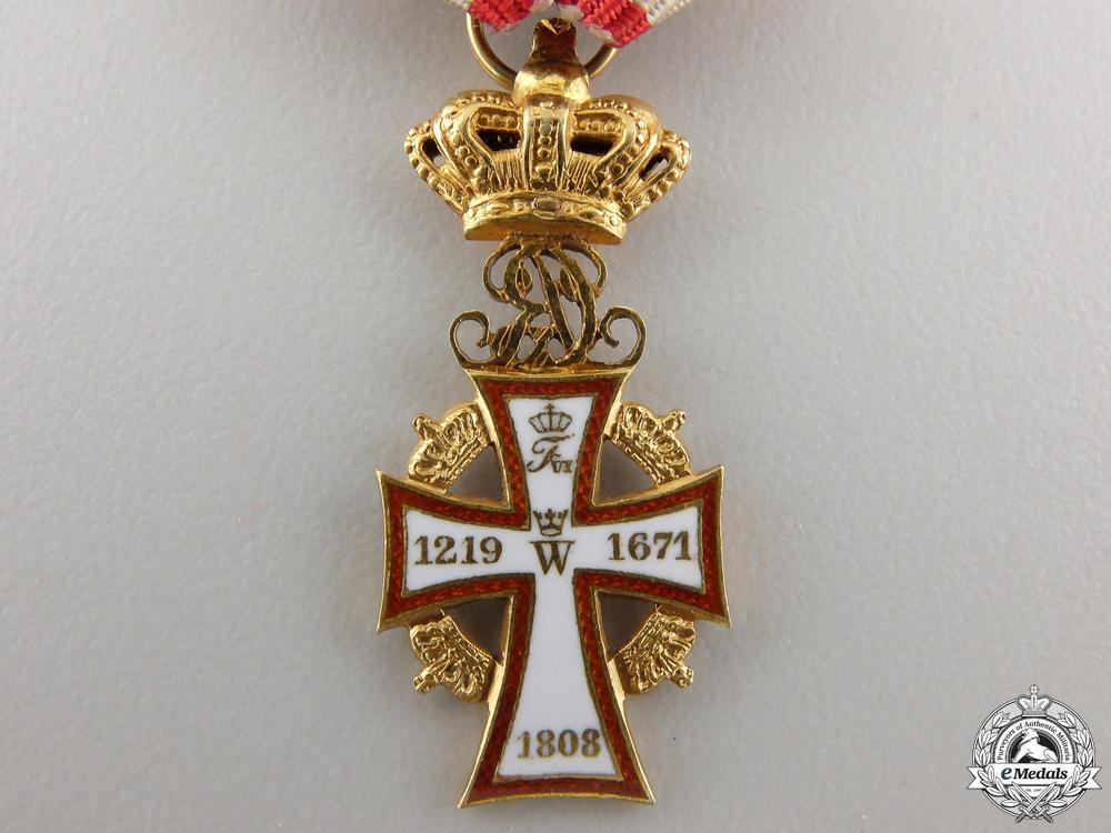Denmark, Kingdom. An Order of the Dannebrog in Gold, Miniature, c.1930