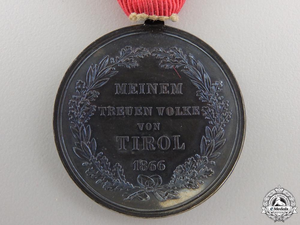 An Austrian 1866 Tirol Commemorative Medal