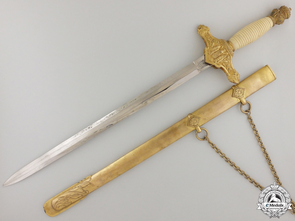 A Spanish Falange Army Officer's Dagger with Case