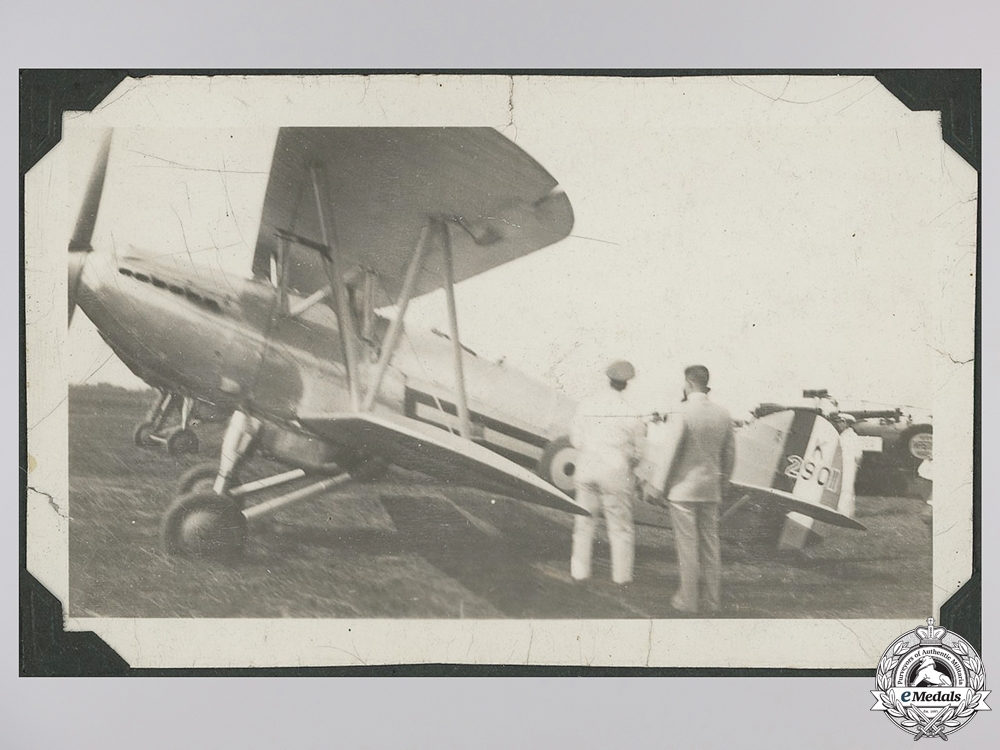 Six 1934 Mounted Toronto Flying Club Photographs