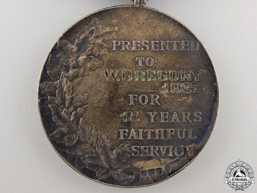 A Hudson's Bay Company Fifteen Years Faithful Service Medal 1935