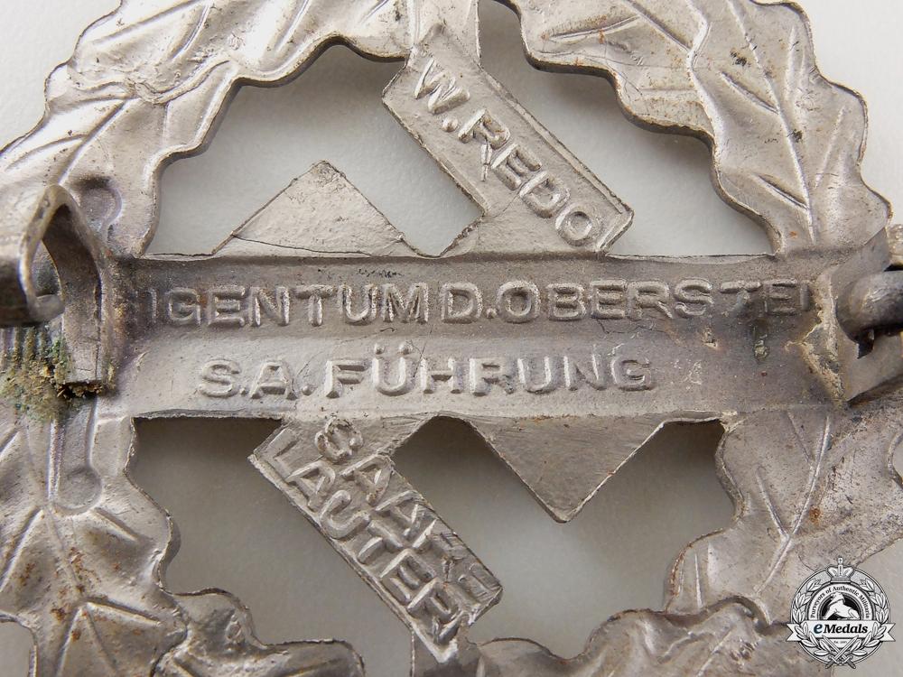 A Silver Grade SA Sports Badge by W.Redo