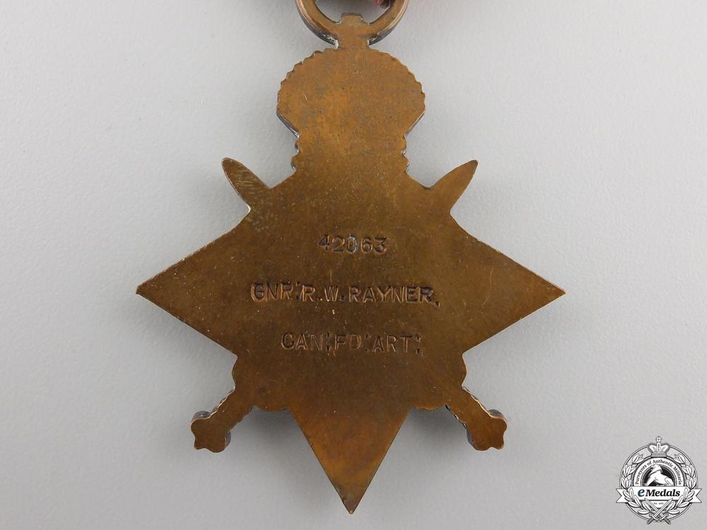 A First War Medal Trio to Lieutenant Rayner; Canadian Field Artillery