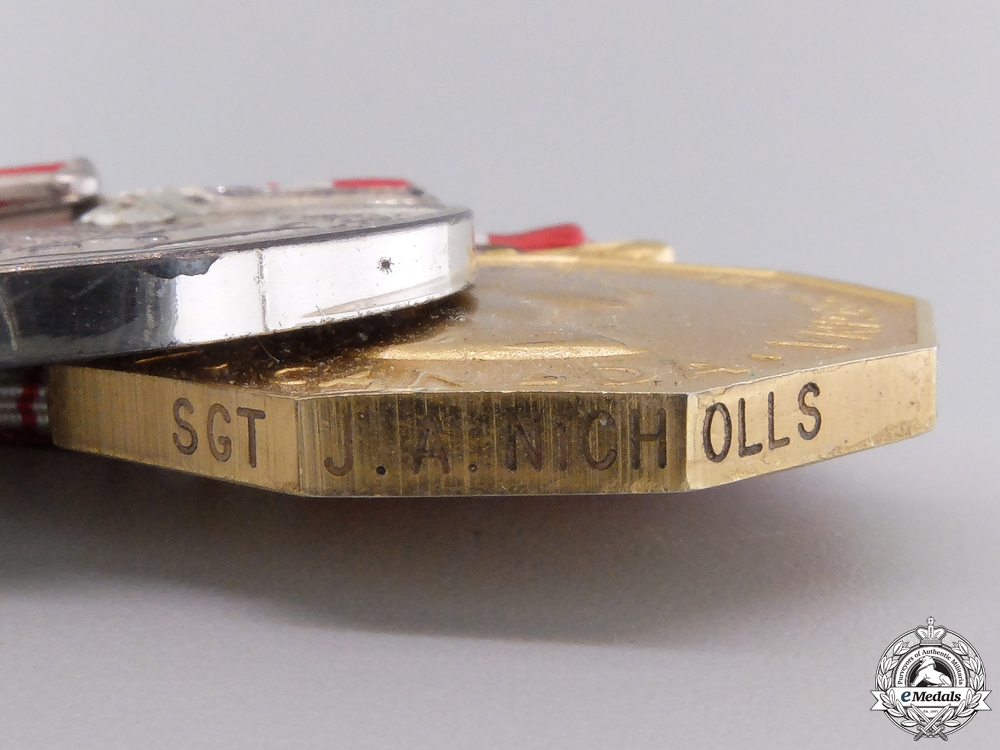A Second War Canadian Confederation & Forces Decoration Medal Bar