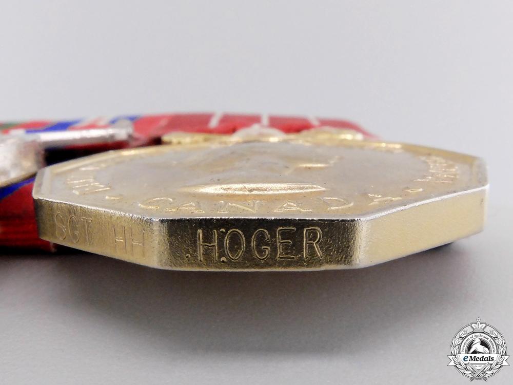 A Second War Canadian Forces Decoration Medal Bar