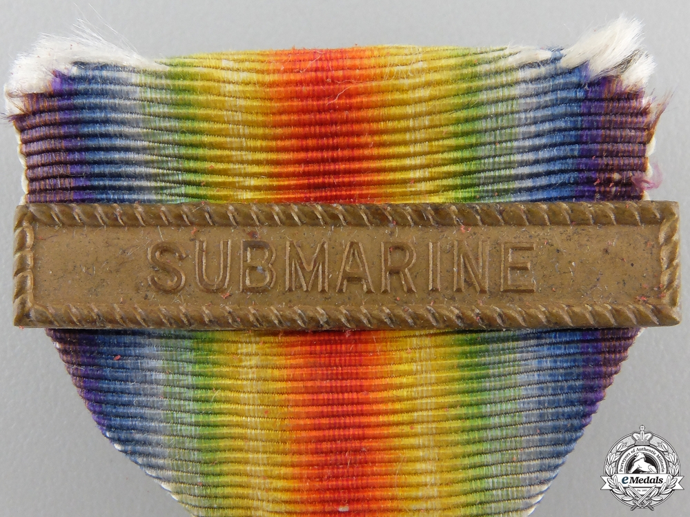 An American First War Victory Medal; Submarine Service