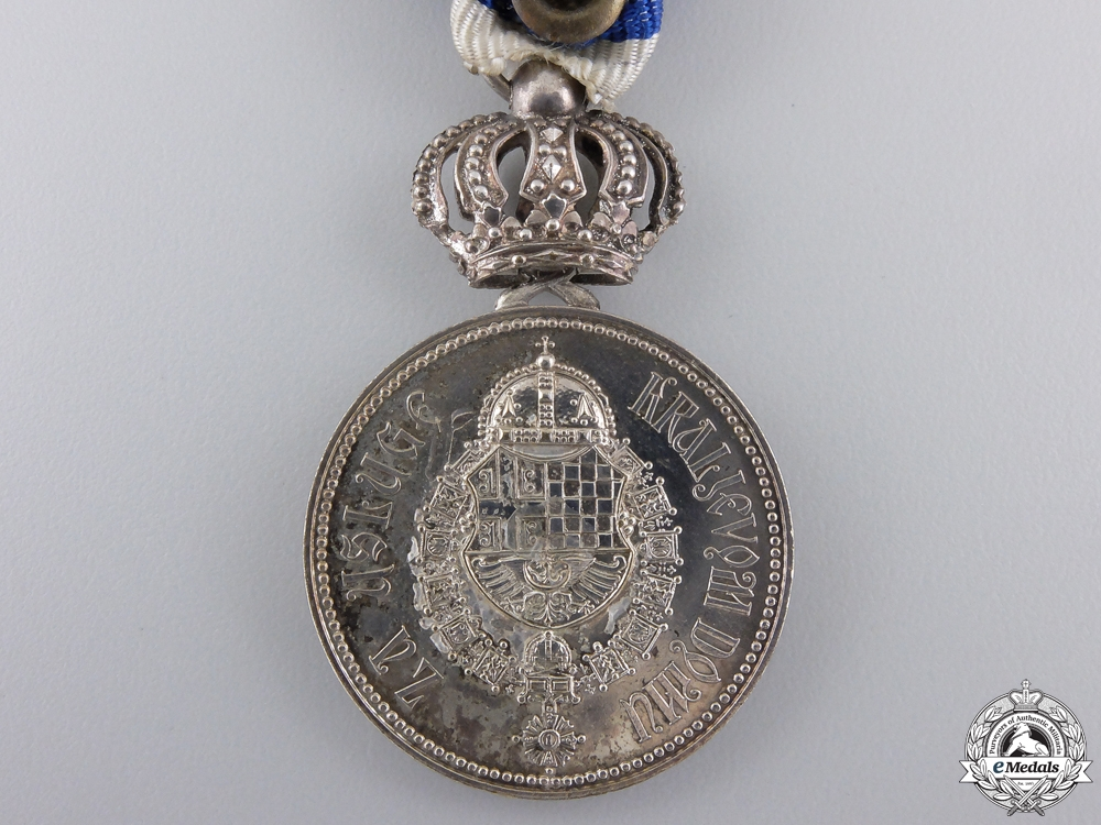 A 1929-1934 Royal Yugoslavian Household Service Medal with Crown