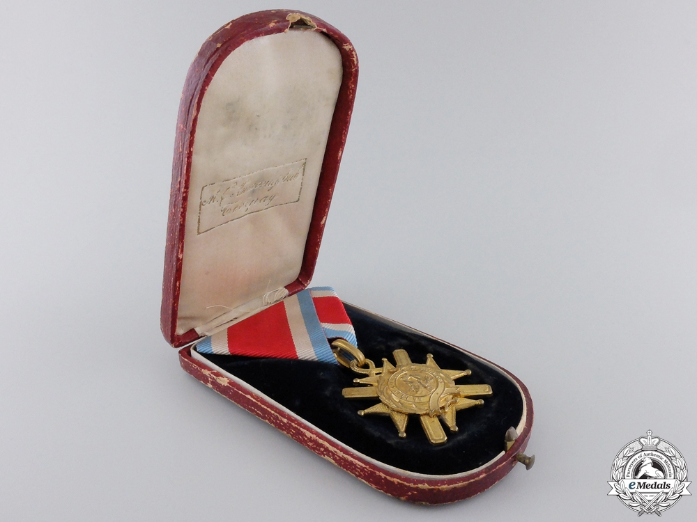 An 1877-1903 Serbian Cross of Takovo with Case