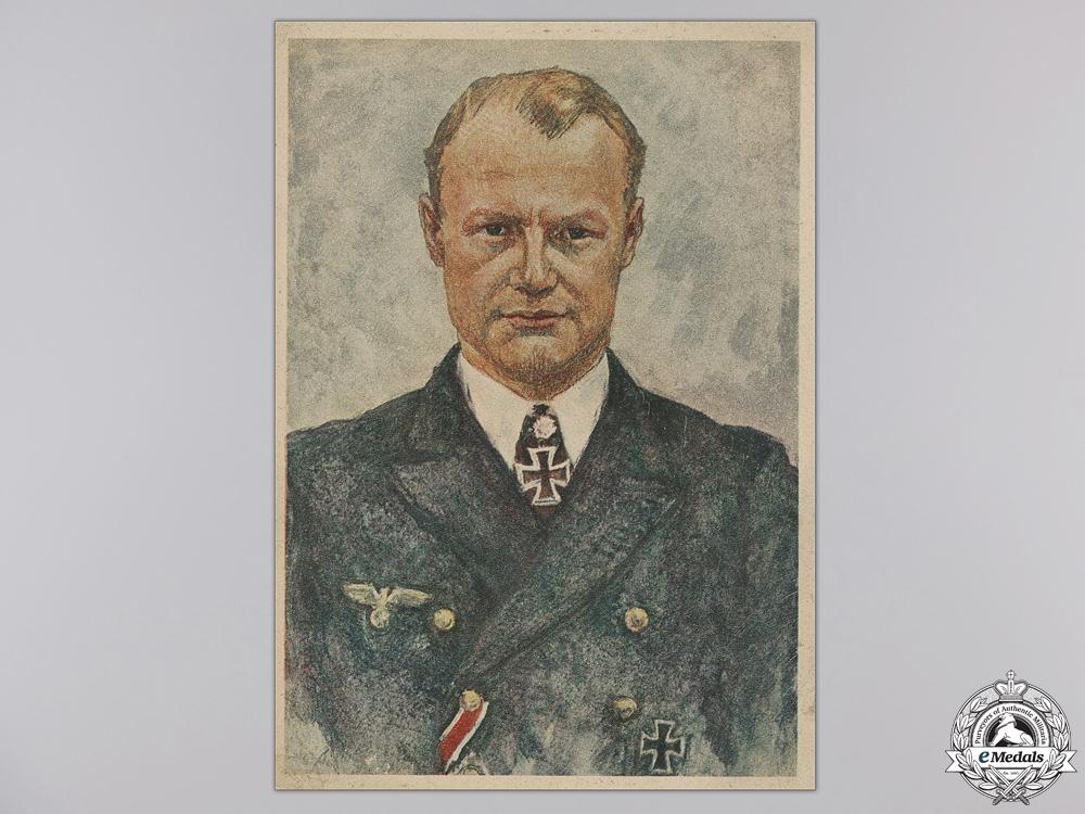 Four Period Postcards of Kriegsmarine Knight's Cross Winners
