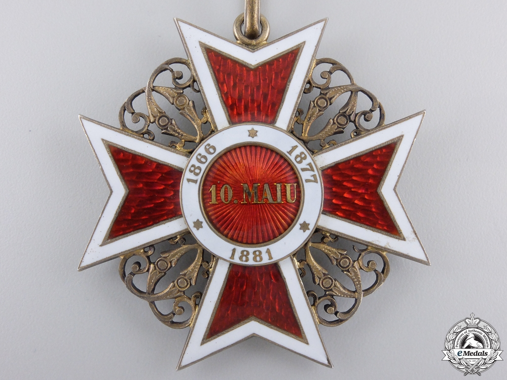 A Romanian Order of the Crown; Commander's Cross by  J. Resch