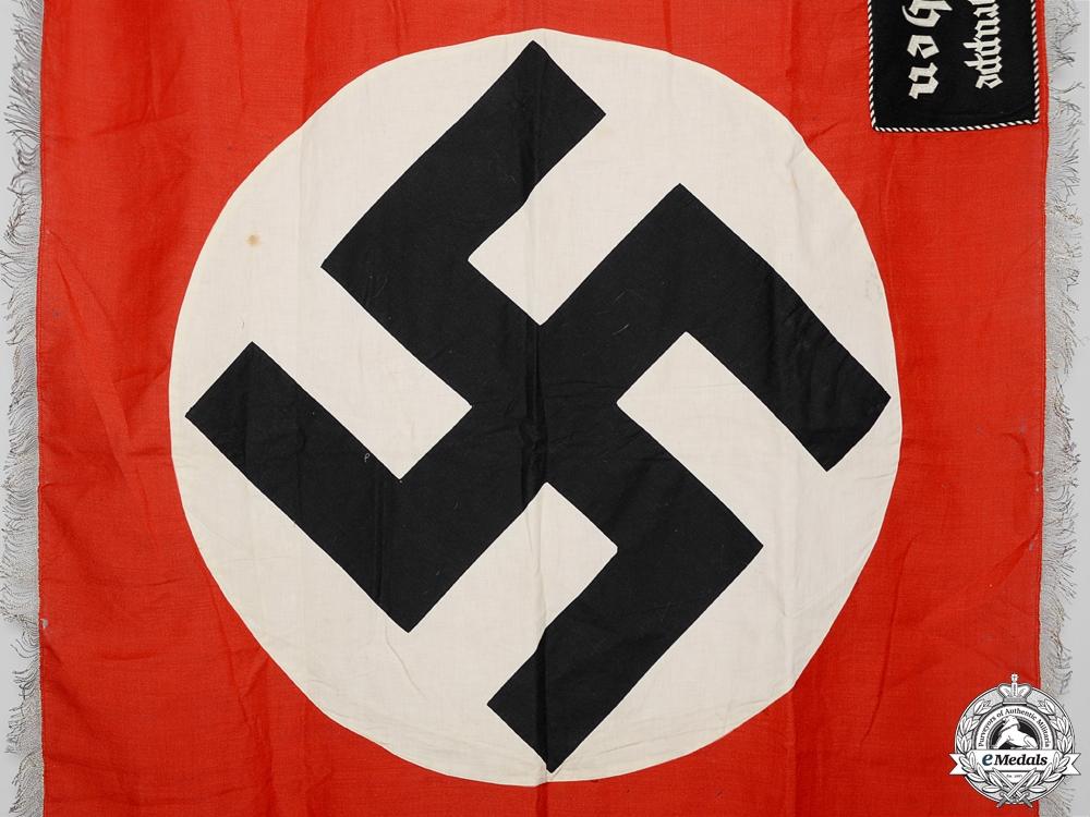 An NSDAP Ortsgruppe Noben Garrison Standard