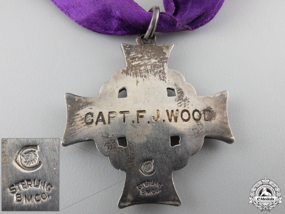 A First War Memorial Cross to Captain F.J. Wood CEF
