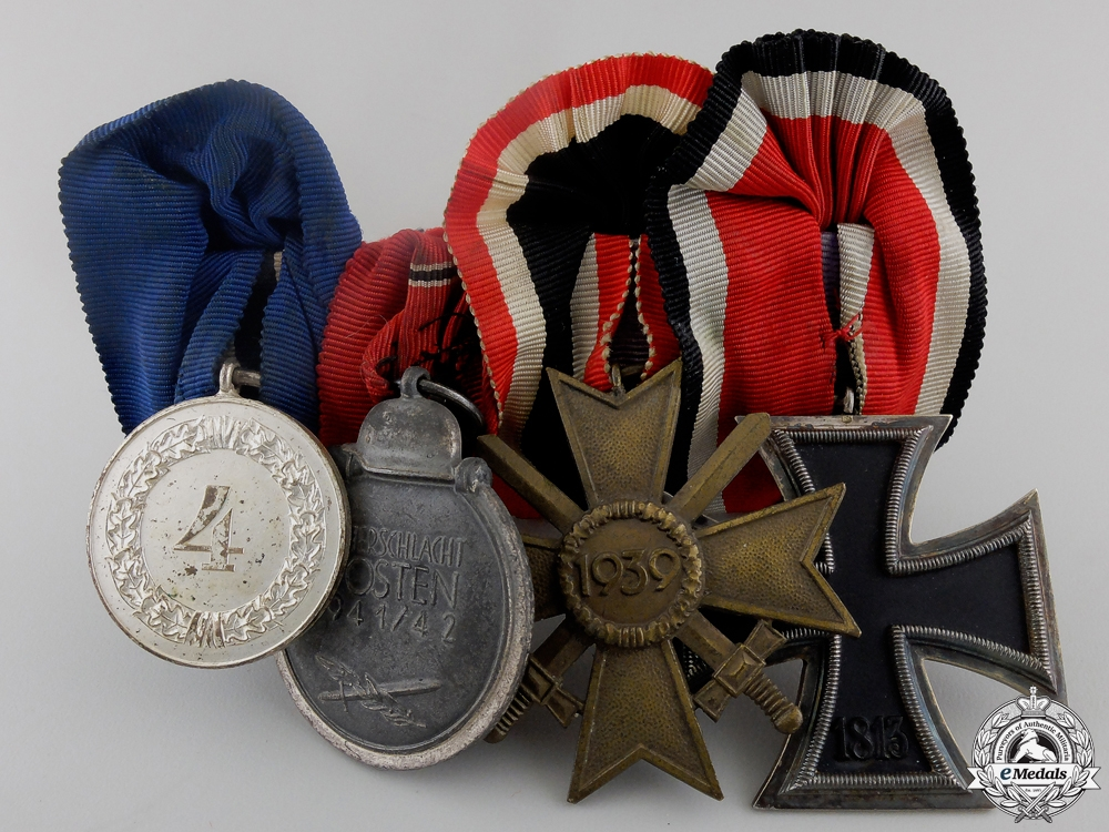 An Iron Cross & Army Long Service Medal Bar