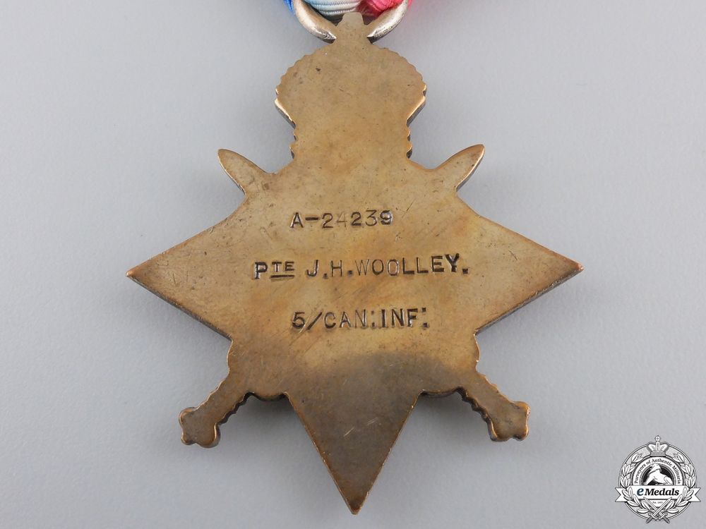 A First War Medal Group to the 5th Canadian Mounted Rifles