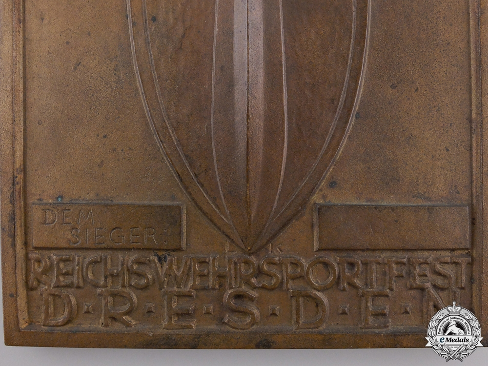 A 1933 Dresden Army Sports Festival Plaque