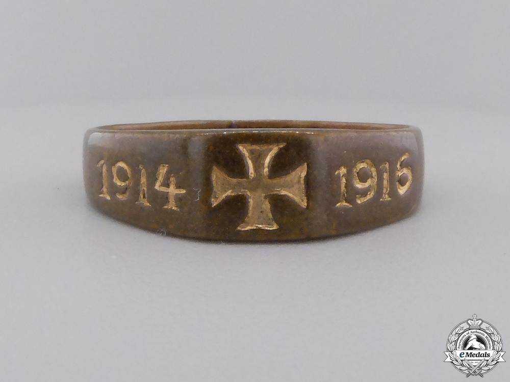 Four First War German Imperial Badges with Ring