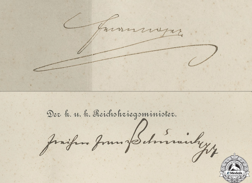 An Austrian Commission Document to Major General Peter Blazic