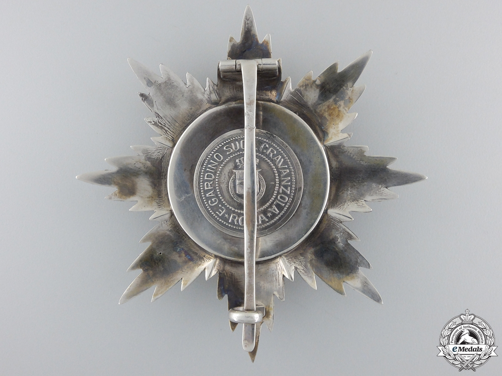An Albanian Order of Skanderbeg; Grand Officer Breast Star