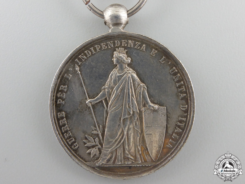 An 1859 Italian Independence Medal; Two Bars