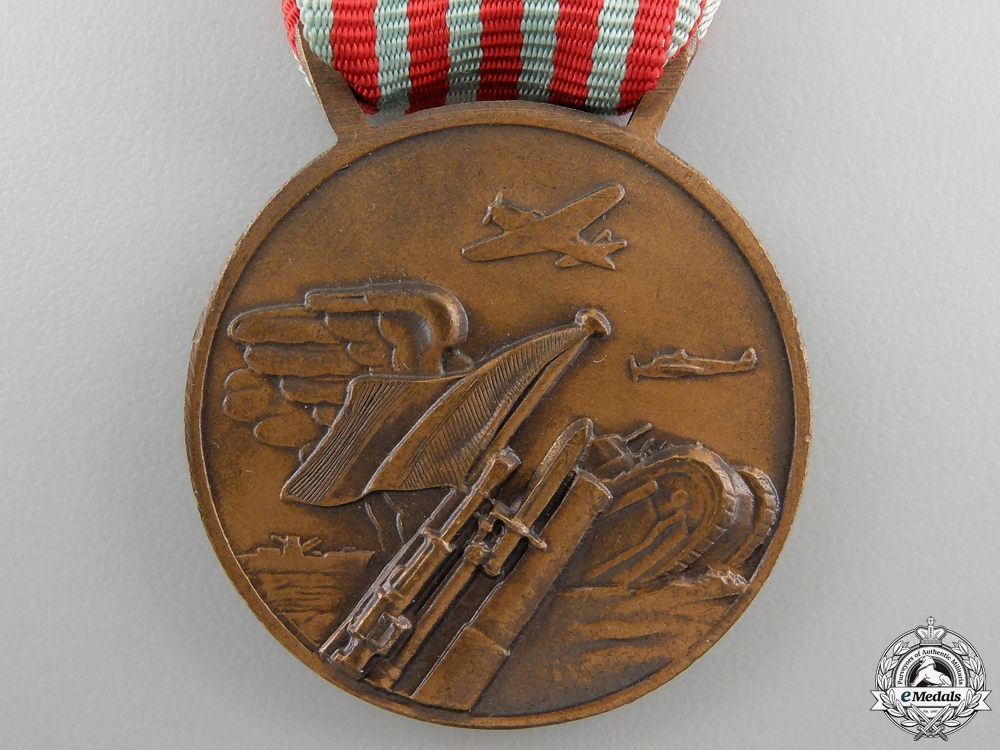 An Italian Medal for the War of 1940-1943; Four Bars